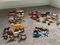 41 Plastic Toy Animals (15 Zoo, 13 Farm , 9 Dogs, 4 various)