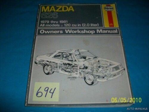MAZDA 626  79 80 81 120 cu in (2.0 LITER) REPAIR MANUAL