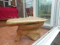 Large teak wood coffee table