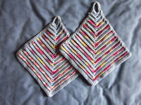 Pair of potholders / oven cloth