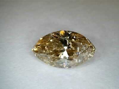 1.01 CT Marquise  YELLOWISH BROWN Champagne  Fancy Loose Diamond! GIA