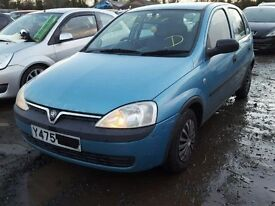 vauxhall corsa c breaking for spare parts