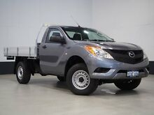 2014 Mazda BT-50 MY13 XT (4x4) Grey 6 Speed Automatic Cab Chassis Bentley Canning Area Preview