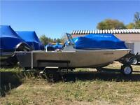 2001 Stanley 18' with consoles, 70hp Suzuki, trailer $8999.00