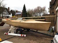 Kestrel dinghy for sale. Includes road trailer.