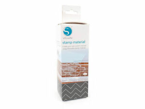 """SILHOUETTE CAMEO STAMP MATERIAL 6""""x7.5"""" x 3 Sheets"""