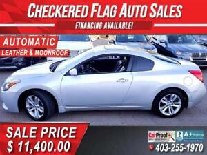2012 Nissan Altima 2.5 S Cpe, Leather, Moonroof