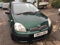 2004 Toyota Yaris diesel, starts and drives well, MOT until October 2018, clean inside and out, car