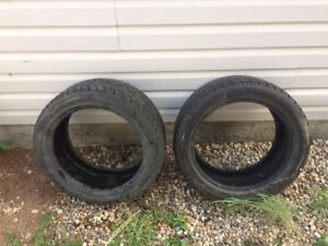 2 USED WINTER TIRES - 245/45R18 100V
