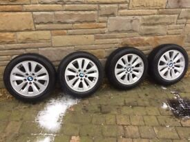BMW 1 Series Alloys c/w Continental Winter tyres.