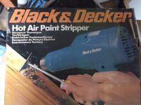 Hot air paint stripping gun