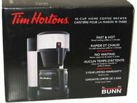 TIM HORTONS 10 Cup Stainless steel Coffee Maker By BUNN