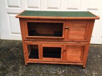 Guinea pig (or rabbit) double decker hutch and budget `starter pack'