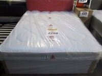 BRAND NEW SEALED**WINCHESTER+KINGSIZE WHITE LEATHER BED DIVAN BASE+MATTRESS+DELIVERY SAMEDAY AVAILBL