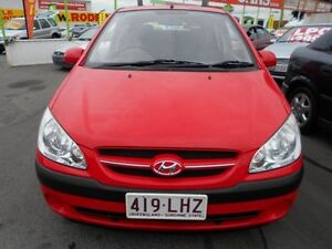 2007 Hyundai Getz TB MY07 SX Red 5 Speed Manual Hatchback Slacks Creek Logan Area Preview