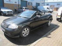 vauxhall astra convertable automatic 2.2 burton 2004 1 years mot good runner/condition may px £995