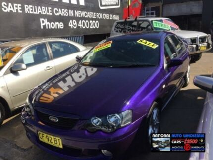 2003 Ford Falcon BA XR6 Purple 4 Speed Auto Seq Sportshift Sedan Wickham Newcastle Area Preview