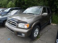 2001 NISSAN PATHFINDER, NO CERTIFY, AS IS