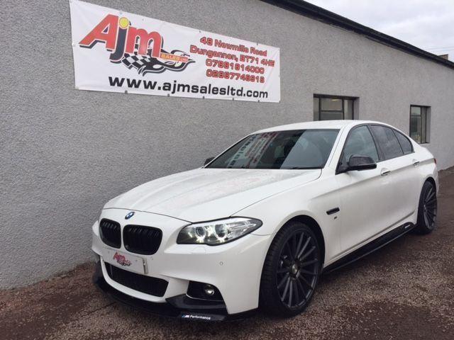 BMW 5 SERIES 30 535D M SPORT 4d AUTO 309 BHP White 2014