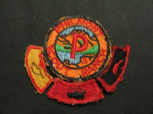 Philmont Scout Ranch P Patch with 3 Segments     c66