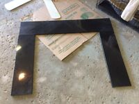3 pieces of black granite