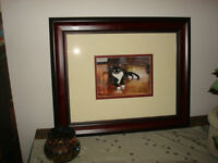 ** Watercolor Painting of Tuxedo Cat - Picture ***