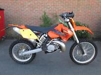 KTM 250 EXC 2004 PX TO CLEAR ENDURO ROAD REGISTERED ELECTRIC START MX BIKE