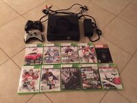 X-BOX 360 with 2 controllers and Games