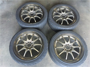 jdm wheels volks racing genuine , 17 inch 5x100 with tires
