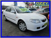 2002 Mazda 323 Protege White 4 Speed Automatic Sedan Minto Campbelltown Area Preview