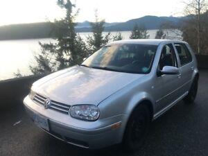 2007 Grey VW City Golf, Four Door, 123,000 kms - $5000 OBO