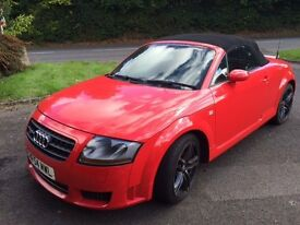 Audi TT Mk1 3.2 V6 DSG Roadster with BOSE and full leather in stunning red