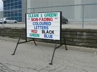 LARGEST manufacturer of black mobile signs and portable signs