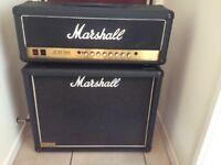 Marshall JCM 900 Hi Gain Master Volume Mark 111 with JCM 800 1960 2 x 12 speaker cabinet