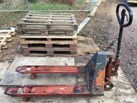 Pallet Truck - old but strong - good working order - used when building house now surplus.