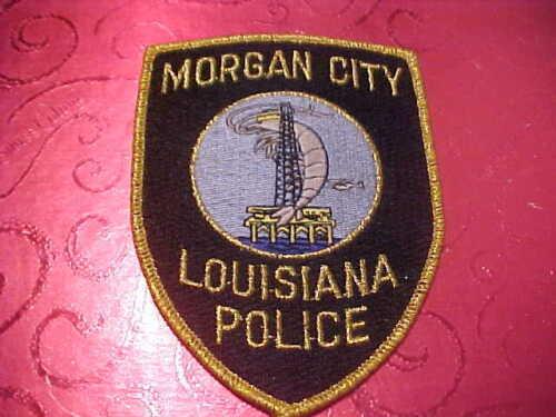 MORGAN CITY LOUISIANA POLICE PATCH SHOULDER SIZE UNUSED