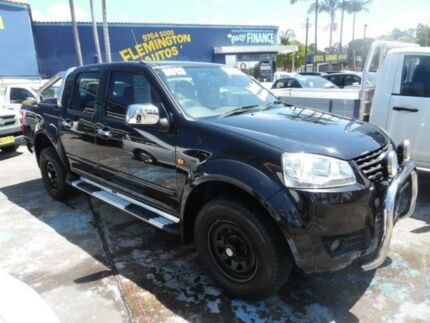 2013 Great Wall V200 K2 (4x2) Black 6 Speed Manual Dual Cab Utility Homebush West Strathfield Area Preview