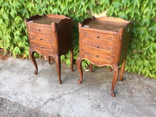 Pair of Provencal Style Bedside Tables - Restored (in progress)