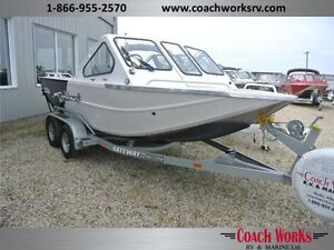 *$247 b/w Shallow water jet boat. Tough as nails