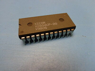 1 X2804cp-20 Xicor 4k Bit 512x8 5v 200ns 24 Pin Pdip Parallel Eeprom Ic