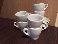 White espresso cup/saucer 6 pc set - £10