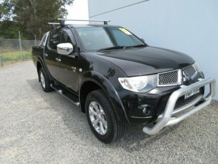 2009 Mitsubishi Triton ML MY09 GLX Double Cab Black 4 Speed Automatic Utility