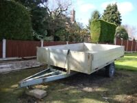 10ft x 7ft Aluminium drop side bodied farm trailer (non-tipping)