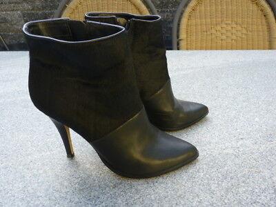 Dolce Vita Leder Schwarz (Dolce Vita Stiefelette High Heel  Leder mit Fellimitat schwarz Gr. 7 - 38)
