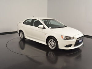 2012 Mitsubishi Lancer CJ MY12 ES White 6 Speed Constant Variable Sedan Welshpool Canning Area Preview