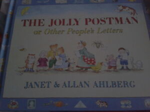 The jolly postman with the different letters inside