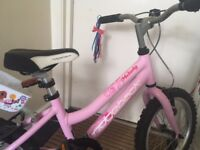 "Younger Girls Ridgeback Melody Kids Bike Pink 16"" Ages 5-8 Years"