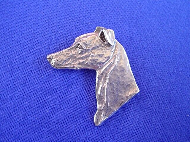 Whippet Italian greyhound pin #12E Pewter Dog Jewelry by Cindy A. Conter Hound