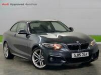 2015 BMW 2 Series 220I M Sport 2Dr Coupe Petrol Manual
