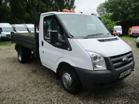2013 Ford Transit 2.2TDCi SINGLE CAB TIPPER 350 MWB 2013 REG 1 OWNER FSH